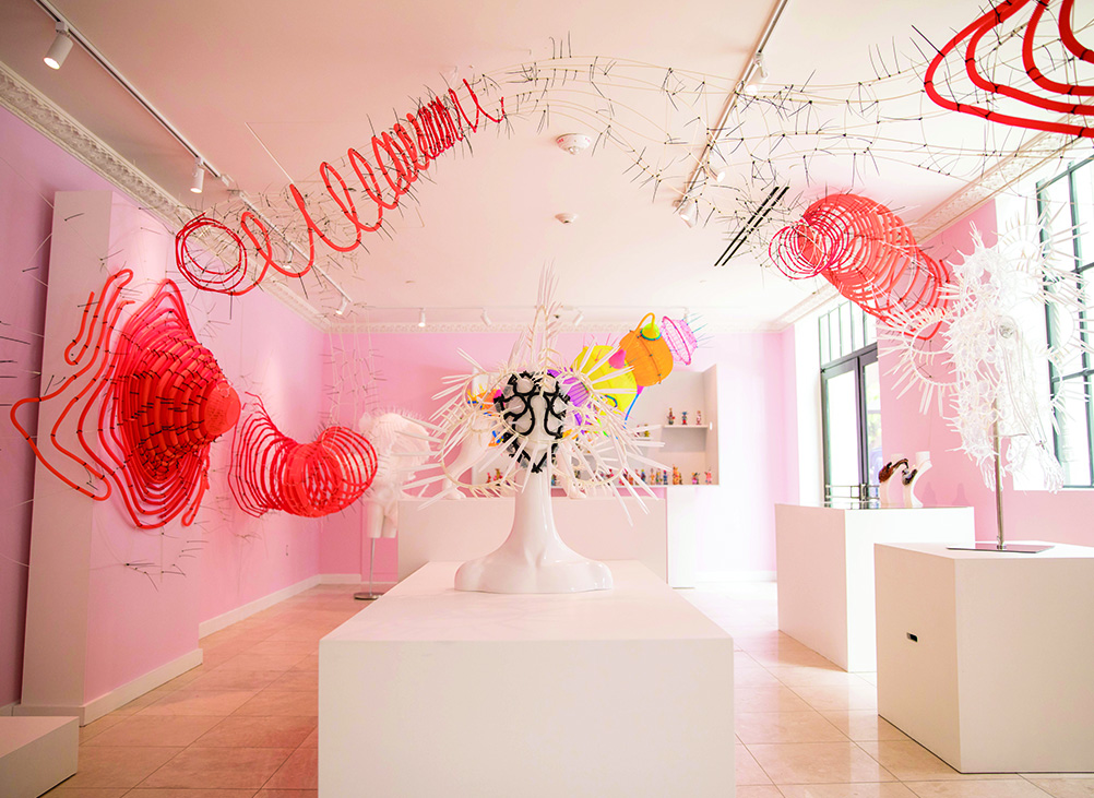 Contemporary art installation at The Lab in Los Angeles.